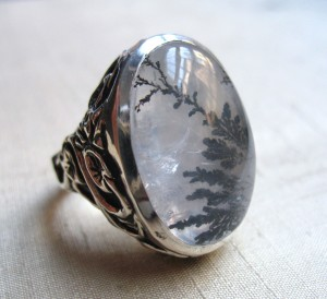 Dendritic Quartz ring lura jewelry