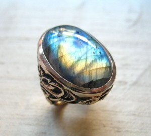 Flashy labrodorite ring lura jewelry