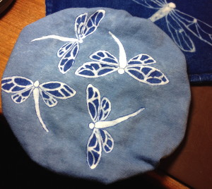 An indigo beret for my Fairy Godchild.
